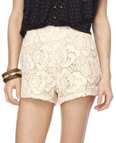 Cute lace shorts!