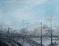 "Saatchi Art Artist Monika Vitanyi; Painting, ""Bahnhof VI."" #art"