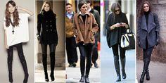 Botas Over The Knee ou Over Boots - Tendência de moda para o inverno 2015-com-calca-leggiing