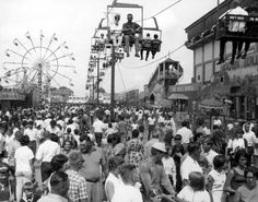 Midway carnival rides, Kansas State Fair, Hutchinson, between 1960 and 1970