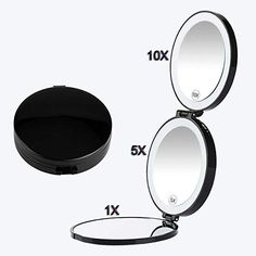 Floxite 15x Supervision Home And Travel Makeup Mirror Acrylics