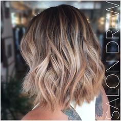 BALAYAGE and Bob haircut by Salon Drew  Balayaged hair, Balayaged highlights, great hair, gorgeous hair, sunkissed hair, hair salon, natural highlights