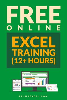 Want to learn Excel? Here is a Free Online Excel training that is designed for beginners and intermediate users. It covers all the basic and advanced concepts in 26 videos (14+ hours of free Excel course). #ExcelTraining #FreeExcelTraining #FreeExcelCourse 3ExcelTips #ExcelTricks Microsoft Excel, Microsoft Office Free, Learning Websites, Learning Skills, Educational Websites, Computer Basics, Computer Help, Excel For Beginners, Excel Hacks
