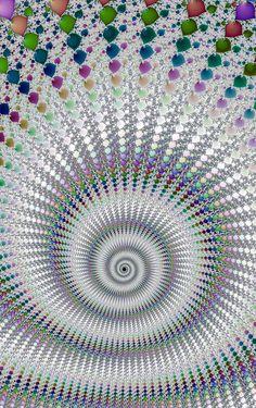Spiral Digital Art - Amazing Fractal Spiral With Great Depth by Matthias Hauser