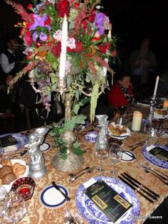 Haunted Mansion Flower Arrangement and Table Decor (plus Alice Davis in Red)