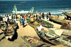 Arrivée au village des pêcheurs de Nouakchott