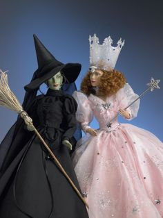 "Elphaba and Glinda... Put it on ""The Wizard of Oz"" just because of Glinda's dress..."