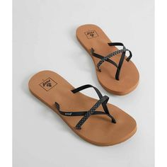Reef Bliss Wild Flip - Black US 6 ($26) ❤ liked on Polyvore featuring shoes, sandals, flip flops, black, black strap sandals, black flip flops, black strappy sandals, strappy sandals and black strappy shoes