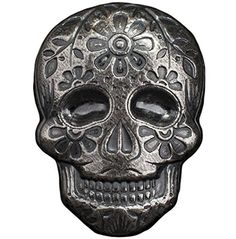 Day of the Dead Silver Sugar Skull - Monarch Poured Bar Mint Coins, Silver Bullion, Day Of The Dead, Sugar Skull, Bar, Stuff To Buy, Color, Day Of Dead, Sugar Skulls