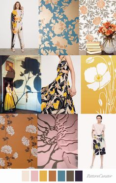Pattern Curator color, print & pattern trends, concepts, insights and inspiration Panda Design, Fashion Fabric, Fashion Prints, Color Patterns, Print Patterns, Pattern Design, Print Design, Textiles, Floral Theme