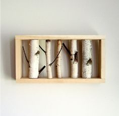 Birch art for walls (could carve initials into trees)