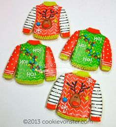 Tacky Sweater cookies by Cookievonster, via Flickr