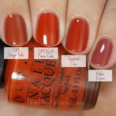 OPI It's A Piazza Cake Comparison | Fall 2015 Venice Collection | Peachy Polish