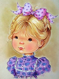 belles images de mary may Sarah Kay, Vintage Girls, Vintage Children, Vintage Art, Holly Hobbie, Cute Images, Cute Pictures, Mary May, Eye Painting