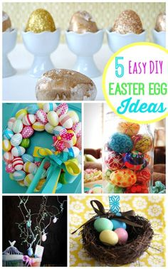 5 Easy DIY Easter Egg Ideas anyone can do! -- Tatertots and Jello for eBay (ad)