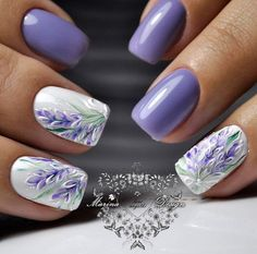 Cute Nail Designs For Spring – Your Beautiful Nails Fancy Nails, Trendy Nails, Cute Nails, My Nails, Sparkle Nails, Nail Designs Spring, Cute Nail Designs, Nagel Stamping, Lavender Nails