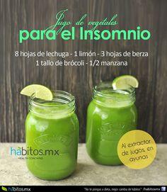 Hábitos Health Coaching | JUGO DE VEGETALES PARA EL INSOMNIO