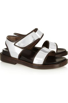 MarniMetallic leather sandals