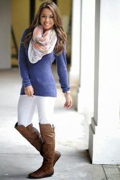 World of Women Fashion: Navy Blue Shirt with White Trousers, Stylish Patte...