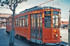 The former Milan tram 1811 at the Fisherman's Wharf Terminus.