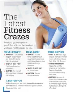 Is Crossfit dangerous? Is barre dangerous? Is hot yoga dangerous? Learn about your favorite fitness crazes. Fitness Fun, Fitness Tips, Barre Workout, Health Magazine, Hot Yoga, Get In Shape, Fun Workouts, Crossfit, Exercise