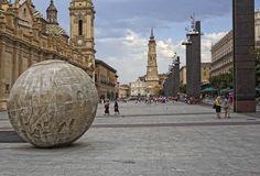 plaza del pilar y centro de Zaragoza