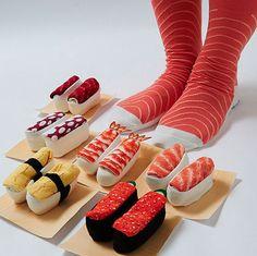 Des chaussettes sushis… pour les fans de sushis !