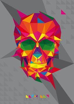 Colorful skull