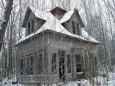 Abandoned Maplewood, NH Train Station on the outskirts of Bethlehem, NH.