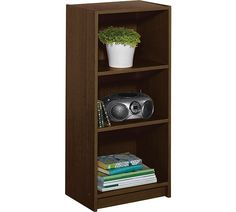 Home Maine Half Width Small Extra Deep Bookcase Walnut At Argos Co