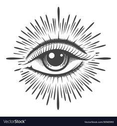 Third Eye Tattoos, All Seeing Eye Tattoo, Tattoo Sketches, Tattoo Drawings, Easy Drawings, Tattoo Sleeve Designs, Sleeve Tattoos, Body Art Tattoos, Hand Tattoos