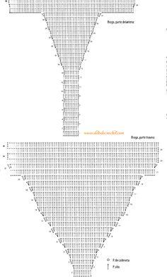 Patrón de braga o bombacha crochet