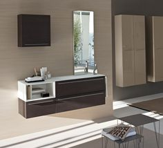 wenge vanity unit comp my fly evo collection by ideagroup