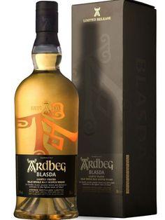 ARDBEG BLASDA Whisky Islay, Whisky Bar, Scotch Whiskey, Bourbon Whiskey, Top Drinks, Beverages, Single Malt Whisky, Beverage Packaging, Wine And Spirits