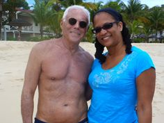 """""""I met The Giorgio Armani on the secluded beach at Galley Bay (his island home is right next door)."""" — One Brown Girl"""
