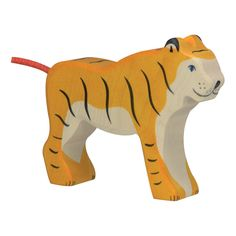 Wooden Standing Tiger Figurine-product