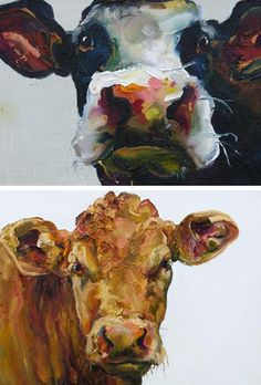 love the cow art.