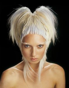 Long Blonde Curly Quirky Avant Garde Hairstyle By Trevor Sorbie LONG ...