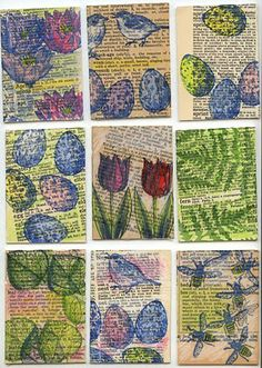 Ronna's Blog: Spring Definitions ATCs