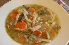 Chicken Vegetable Noodle Soup-low sodium Recipe via @SparkPeople