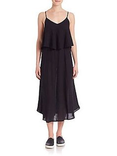 McGuire Stevie Ruffled Dress - Licorice - Size L