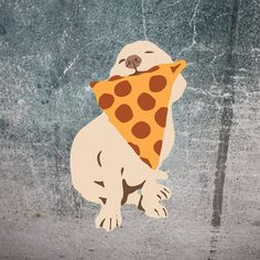 Sid Loves Pizza! (the sticker) Super cool Die Cut Sticker of Sid with pizza! Perfect for walls, or corgi butts. A must have if you love pizza, dogs or being ali
