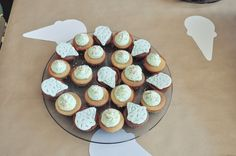 Mini cupcakes with ice cream icing for the little ones
