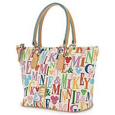 Disney Mickey and Minnie Mouse Rainbow Shopper Bag by Dooney & Bourke | Disney StoreMickey and Minnie Mouse Rainbow Shopper Bag by Dooney & Bourke - You'll always enjoy a colorful spell of shopping with this Rainbow Shopper by Dooney & Bourke. Mickey's and Minnie's names form the design for this spacious and stylish bag that's the fashionable way to show your colors.
