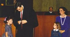 On the bench: Garland's daughters and his wife were present as he became a judge for the f...