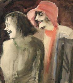 """Street Girls"" - 1928 - Karl Hubbuch."