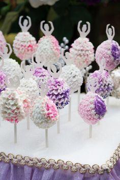 Idée mariage et babyshower: Des cakes pops ballerines