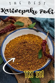 Indian Food Recipes, Asian Recipes, Ethnic Recipes, Curry Leaves, Middle Eastern Recipes, American Food, Rice Bowls, Okra, Spice Mixes