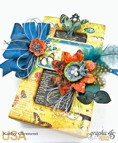 Accessorize with Graphic 45 Brooch Nature Sketchbook by Kathy Clement Product by Graphic 45 Photo 2