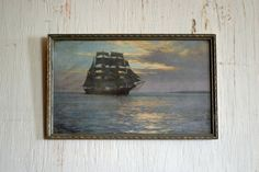 1950's Framed Nautical Newspaper Clipping from by WanderingBeauty, $19.99